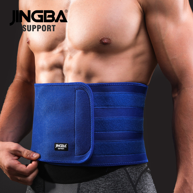 JINGBA SUPPORT Slim fit Abdominal Waist sweat belt Sports Waist trimmer Support Safety Back Support Lumbar Band Protective