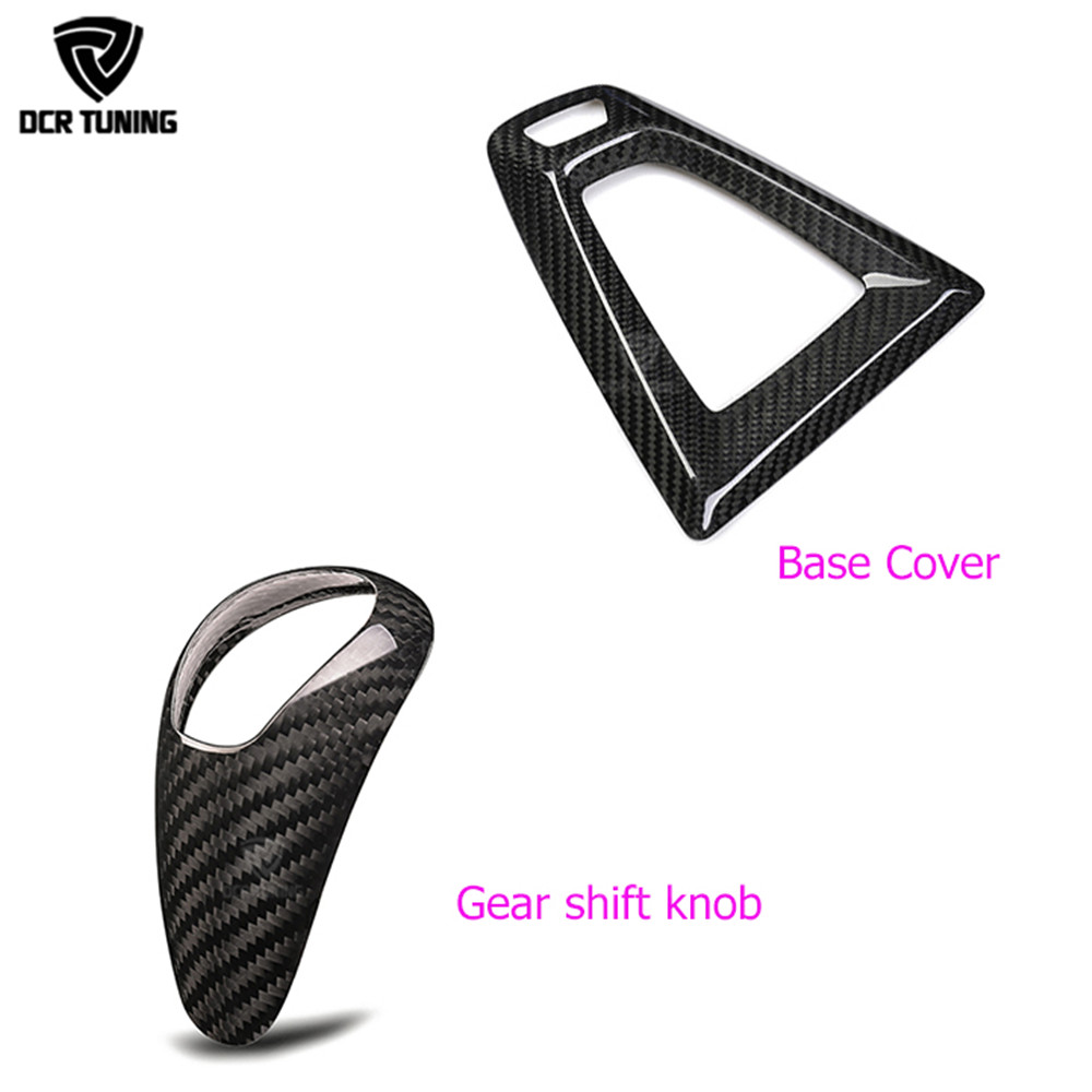 Carbon fiber Gear Shift Konb Cover and Base Cover For BMW M2 F87 M3 F80 M4 F82 F83 Gear Surround Cover interior trim fit for toyota camry 2018 carbon fiber style interior gear shift knob cover trim interior mouldings interior accessories
