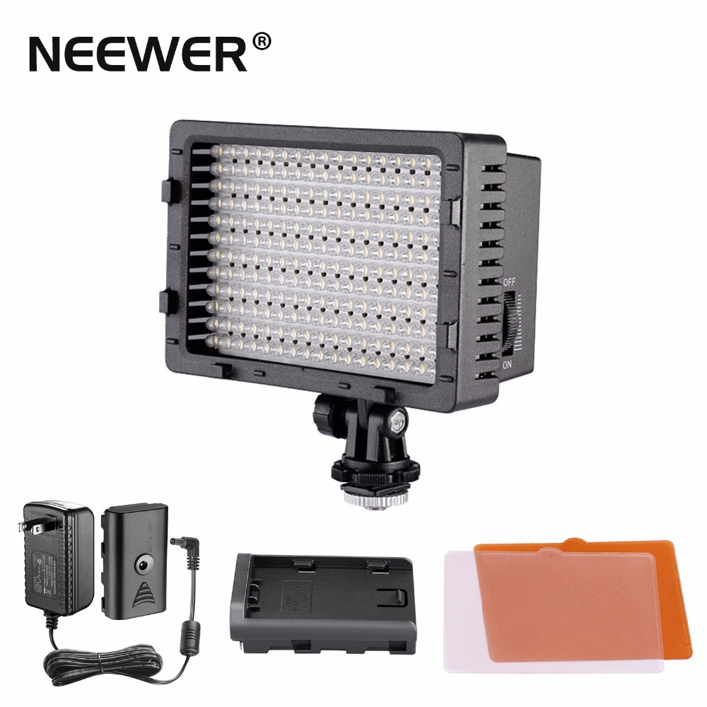 NEEWER CN-216 Ultra High Power Panel Digital Camera / Camcorder Video Light, LED Light for Canon Nikon Sony w/ power adapter boya by wm5 by wm6 camera wireless lavalier microphone recorder system for canon 6d 600d 5d2 5d3 nikon d800 sony dv camcorder