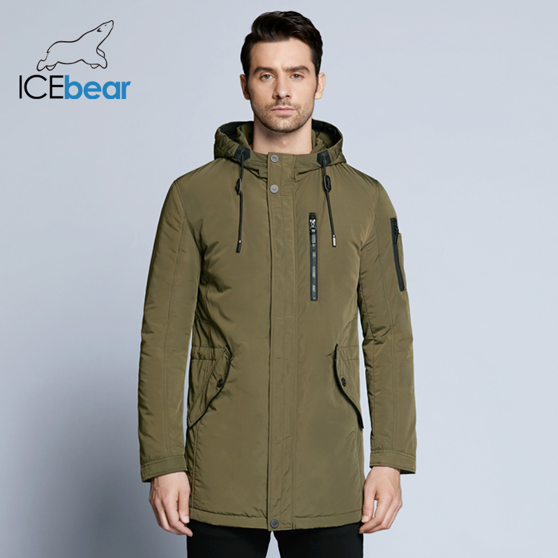 ICEbear 2018 new autumnal men's jacket short casual coat overcoat hooded man jackets high quality fabric men's cotton MWC18228D icebear 2018 new cusual solid man jacket coat autumn undetachable hat short single breasted men coat mwf18216d