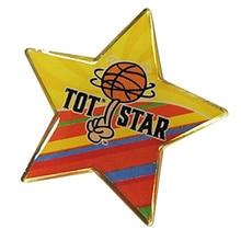 Hot Sale Logo Lapel Pin with Enamel Color Badge Pentagram Shape Epoxy