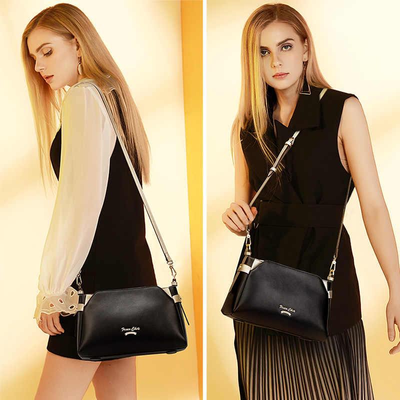 FOXER Marka 2019 Yeni Tasarım Kaliteli Deri Bayan Flap Çanta Ofis Bayan Moda omuz çantaları Kadın Şık askılı çanta