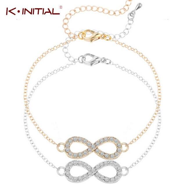 Kinitial Célèbre CZ Infinity 8 Bracelet Bracelets Simple Infinity BFF Bracelet  Amitié Meilleur ami Min 1