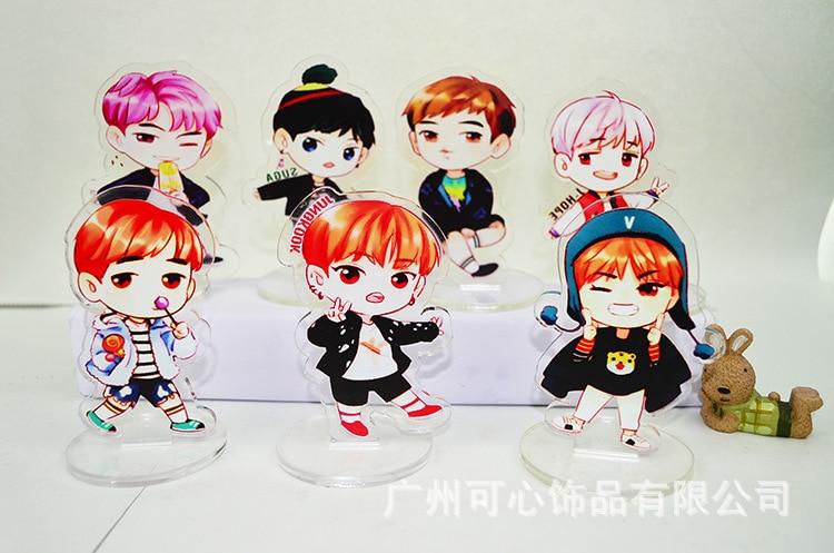 [MYKPOP]BTS Bangtan Boys Acrylic Standing Cartoon Plate KPOP Fans Collection SA18050511