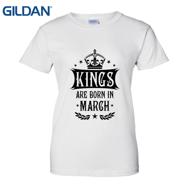 Comfortable Kings Are Born In March Birthday T Shirt Fashion Shirts Womens Summer Casual Ladies Good Quality