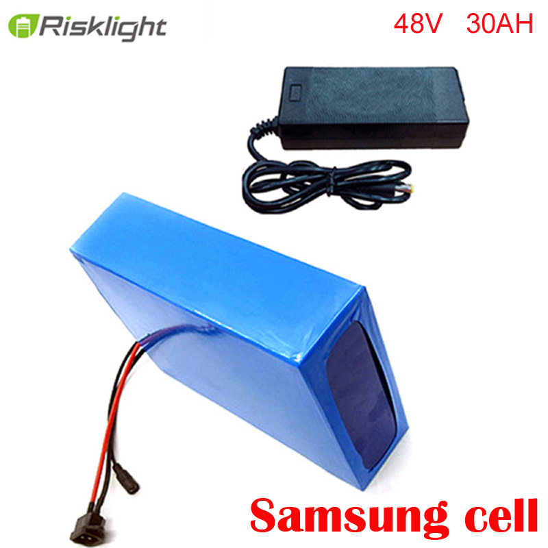 lithium 48v bicycle ebike battery pack 48V 30AH 500W to 1400W Electric Bicycle Battery Scooter E-Bike with charger and bms