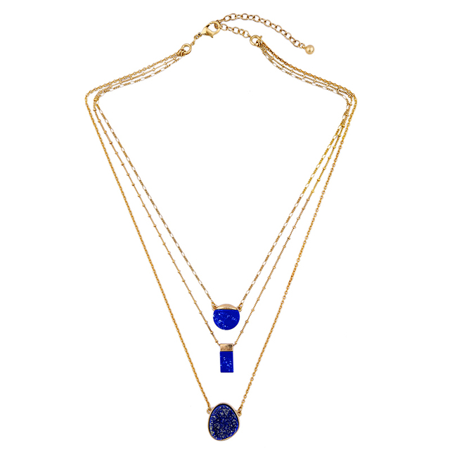 Chic & Charming Imitation Sapphire Necklace