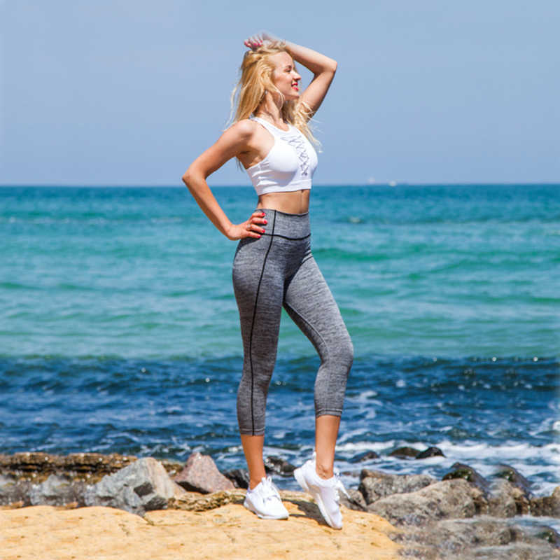 Wyprzedaż ciążowe spodnie obcisłe legginsy do jogi dla po porodzie odchudzanie szkolenia odzież ciążowa spodnie przycięte spodnie