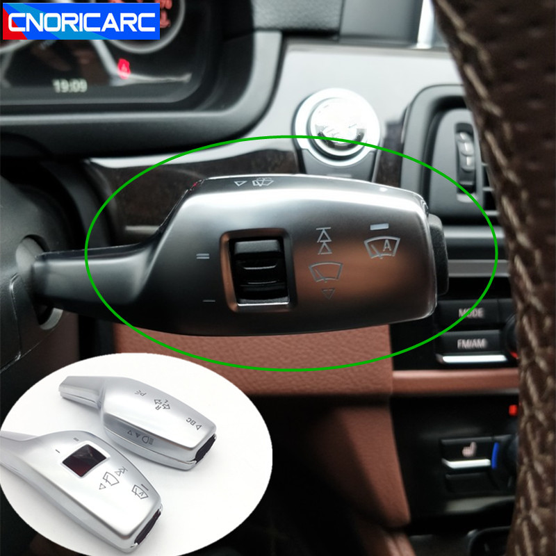 CNORICARC Console Wiper Lever Steering Rod Cover Decoration Chrome ABS Trim 2pcs For BMW X3 2011