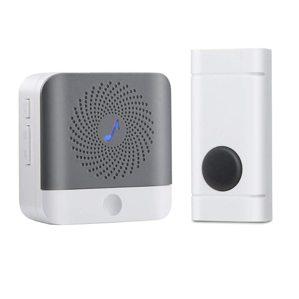 Google Home Mini Voice Assistand Wireless Door Bell Stand Wall LED Flash SOS Call IP55 Waterproof Smart Doorbell System