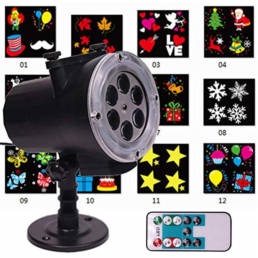 цена Christmas LED Projector lights Outdoor 12 Slides &Remote Landscape Garden decoration Waterproof IP65 Christmas,Halloween,Wedding онлайн в 2017 году