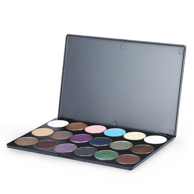 Amor alfa 18 colores nude maquillaje brillo paleta de sombra de ojos profesional paleta de sombra de ojos maquillaje pigmento del brillo sombra de ojos