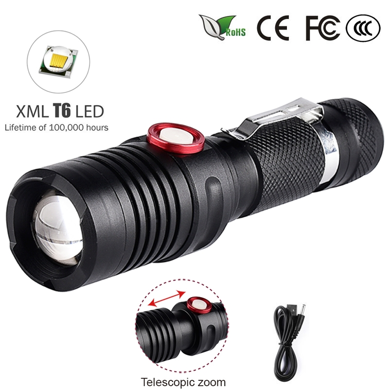 """Flashlight Ultra Bright Tactical Zoomable 5,000 Lumens LED /""""BLACK/"""""""