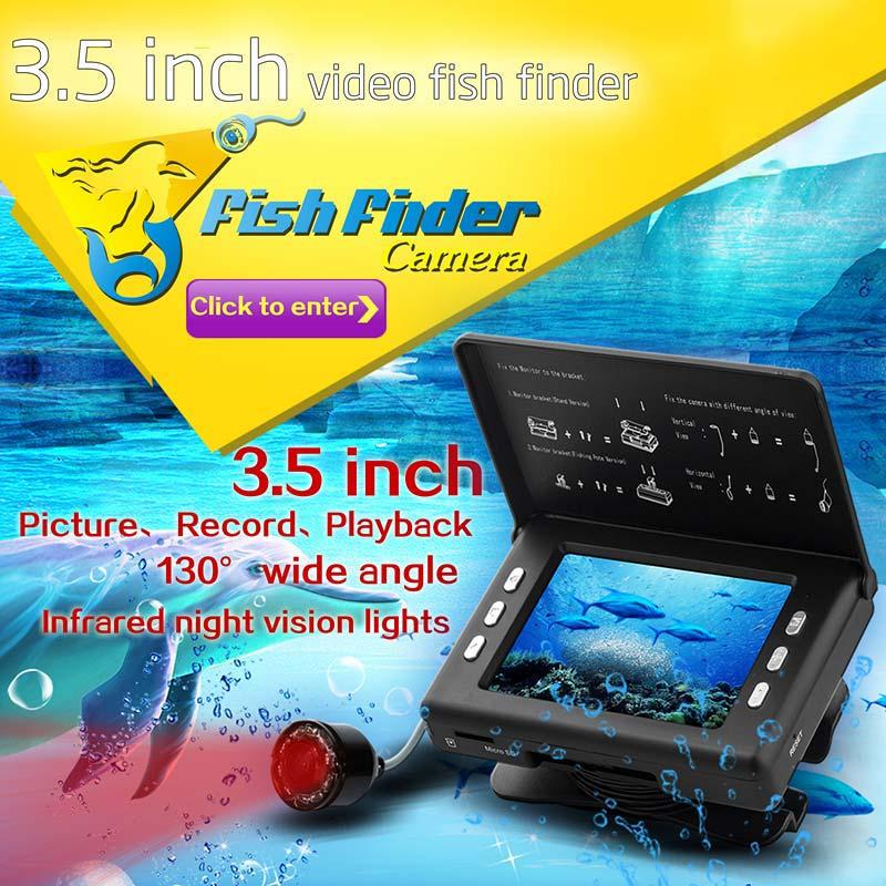 3.5'' Portable DVR Underwater Cam Fishing Finder Video Camera Portable English Display Fishfinder