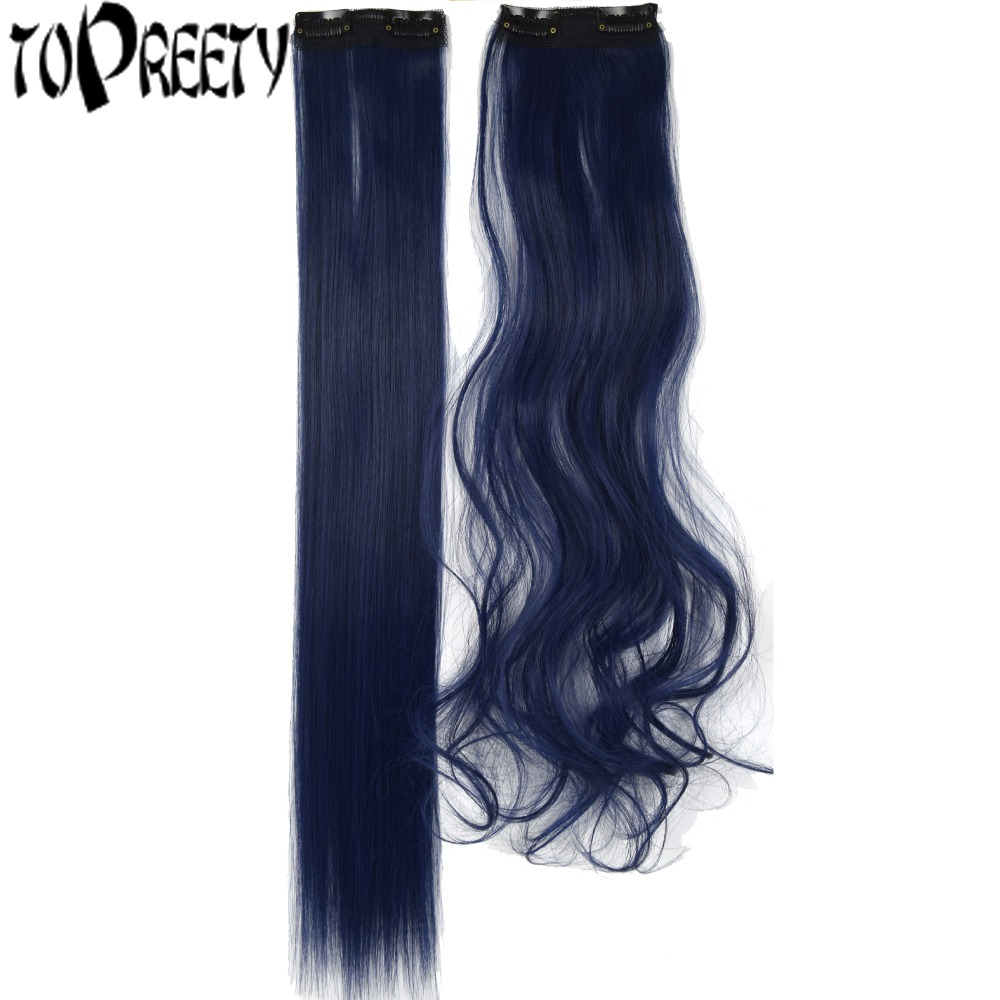 TOPREETY Synthetic Hair Heat Resistant 20gr 22inches 2 Clips in hair extensions