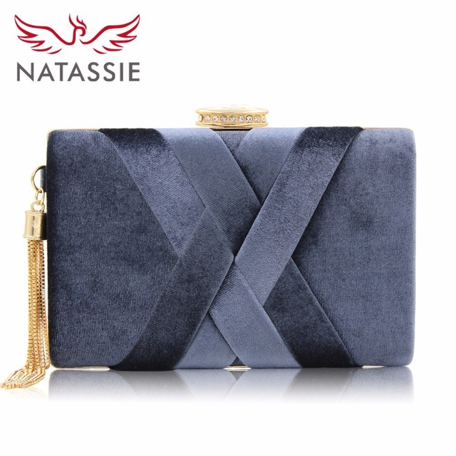 Natassie 2018 New Arrival Women Clutch Bag Top Quality Suede Clutches Purses Las Fashion Tassel Evening