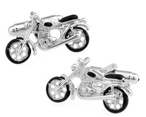 Cuff-Links Motorbike-Style Copper-Material Silver Colour Men Wholesale