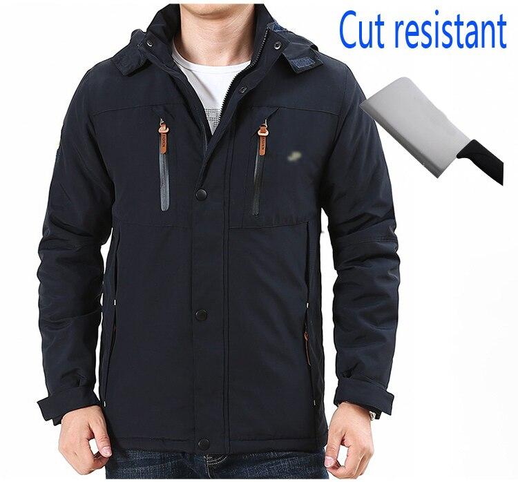 Самозащита анти порезная одежда анти удар ножа скрытый порезок Устойчив мужская куртка безопасность полиция Повседневная водонепроницаем