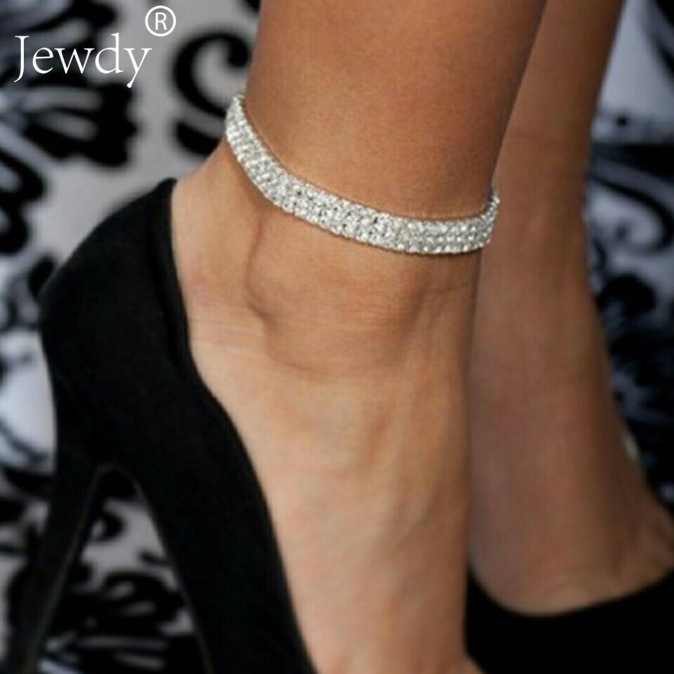 Vintage Anklets for Women Bohemian Crystal Ankle Bracelet Cheville Barefoot Sandals Pulseiras Women Tobilleras Foot Leg Jewelry