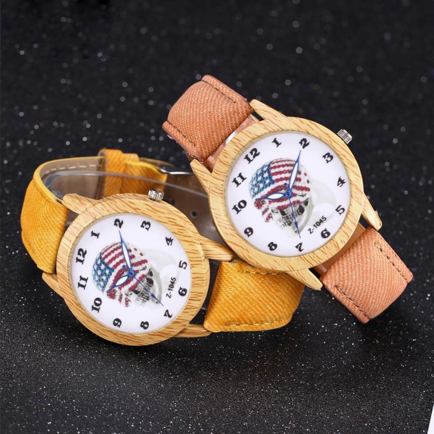 Diligent 2017 New Luxury Women Men Skull Head Watch Analog Quartz Bracelet Wrist Watches L8283 Fragrant Aroma Watches