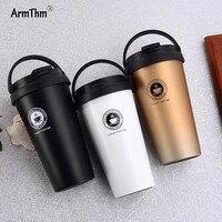 500 ML/16.9 OZ Premium Seyahat Paslanmaz Çelik Termos bardak Kahve Kupa Bardak Bardak Çay Termal Şişe Su thermocup Araba Için