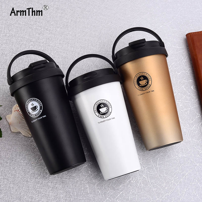 500ML/16.9OZ Premium Travel Stainless Steel Thermos Flask Coffee Mug Tumbler Cups Tea Thermal Bottle For Water Thermocup For Car|Vacuum Flasks & Thermoses| |  - title=