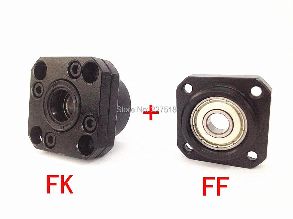 FK30 FF30 Support: 1set FK30 & FF30 Ballscrew End Support CNC Parts tmt cnc ballscrew end support fk30 fixed side ff30 supported side fk30 c7 ff30 black