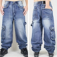 Washing Men Baggy Jeans Mens Hip Hop Jeans Long Loose Fashion Trend Skateboard Baggy Relaxed Fit