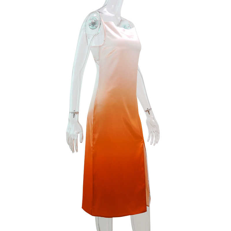 Hugcitar сексуальное платье на бретельках с открытой спиной и завязками, лето 2019, женские модные вечерние платья с милым разрезом, Клубная уличная одежда, праздничное платье