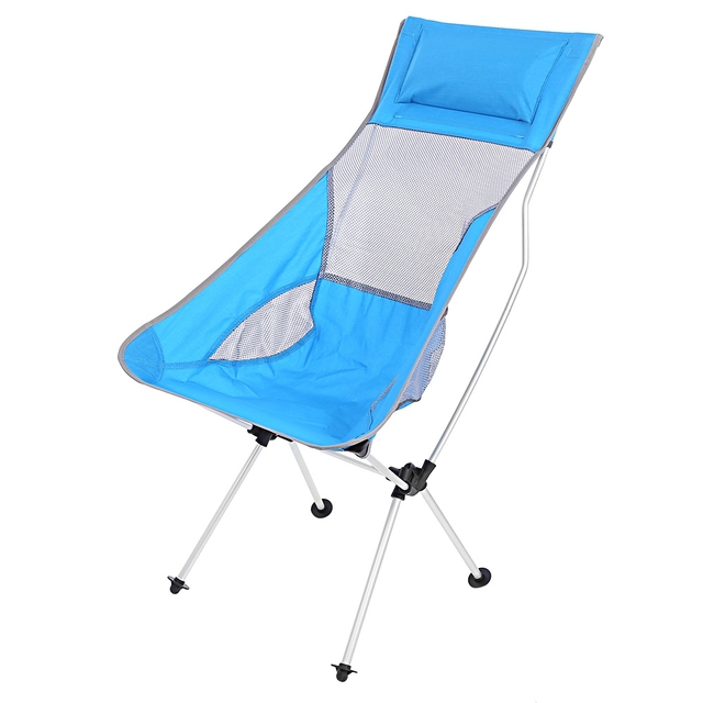Ultralight Folding Aluminum Alloy Moon Rocking Chair Outdoor Camping Picnic  Breathable Mesh Oxford Cloth Folding Rocking