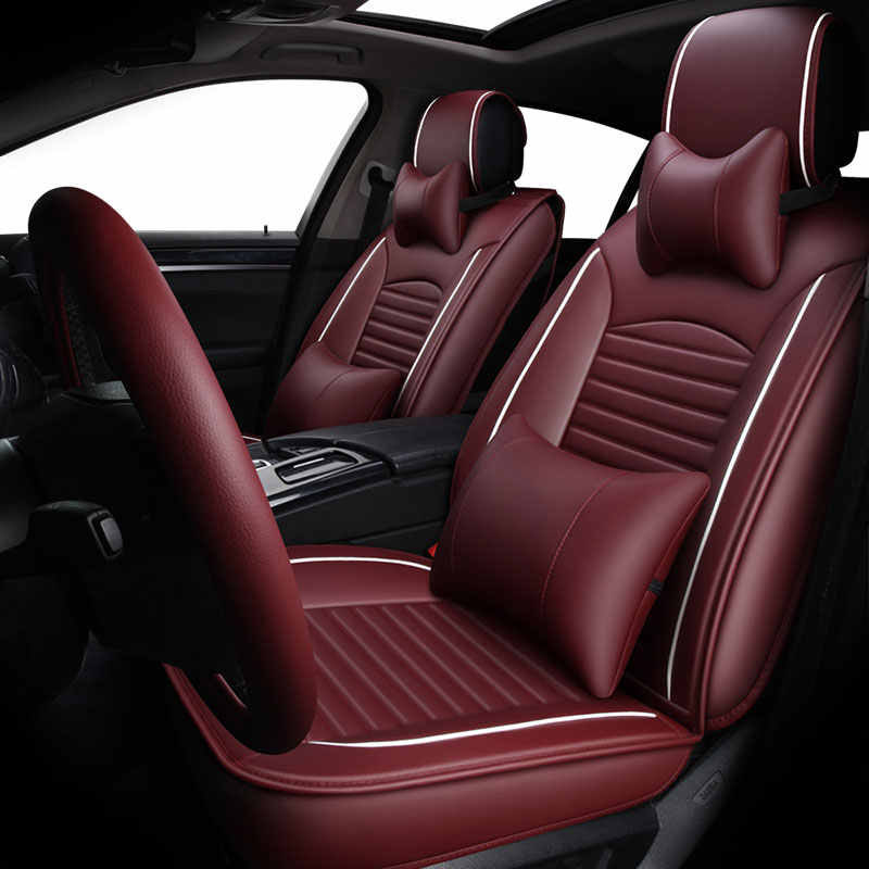 Lederen automobiles universele autostoel cover covers voor hyundai solaris elantra santa fe solaris sonata 2001 2002 2003 2004 2005