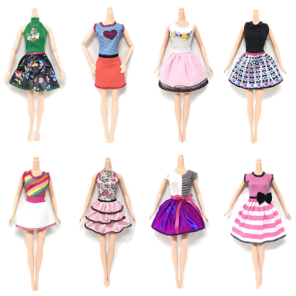 8 Pcs Fashion Elegant Girl Doll Toy Summer Dresses Gown Outfits Clothes Accessories for Barbie Toys Children Girls Birthday Gift8 Pcs Fashion Elegant Girl Doll Toy Summer Dresses Gown Outfits Clothes Accessories for Barbie Toys Children Girls Birthday Gift