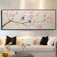 new 5D full drill diamond embroidered peach flower simple modern restaurant Diamond painting cross stitch kit bedside bedroom