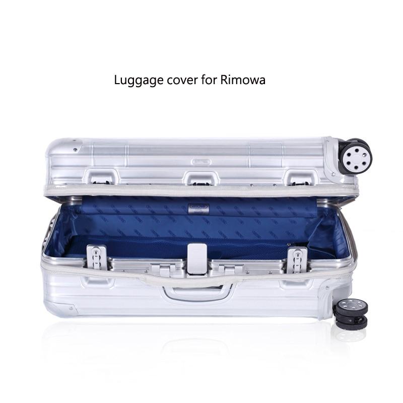 Pvc capas de bagagem para rimowa transparente mala capa com zíper claro bagagem protetor capa organizador acessórios de viagem
