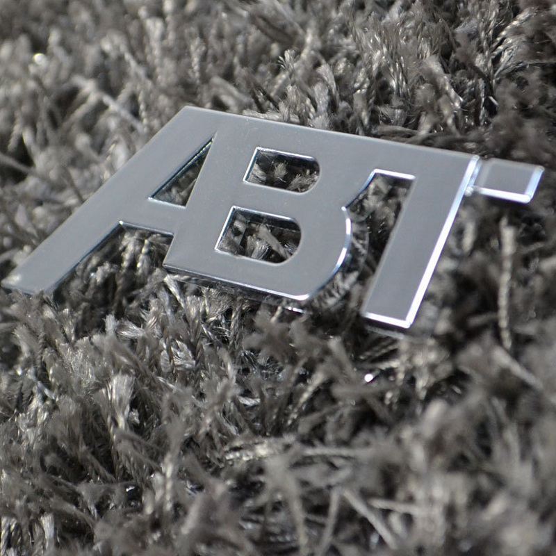 New 3D ABT Logo Refit Car Badge Auto Front Grill Emblem Stickers Car Sticker Decal