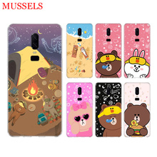 Couples Brown Cony Phone Back Case for OnePlus 7 Pro 6 6T 5 5T 3 3T 7Pro Art Gift Patterned Customized Cases Cover Coque Capa