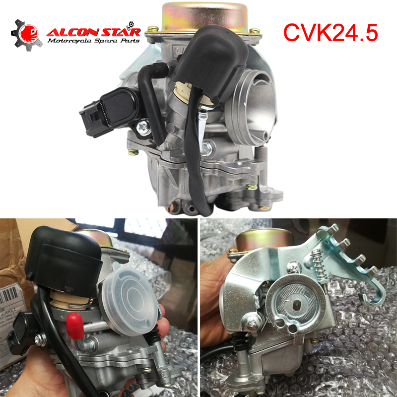 Alconstar-CVK24 24.5mm Carb Carburateur Moto Starter Électronique GY6 100 125 150CC Scooter ATV Quad Buggy Remplacer Keihin