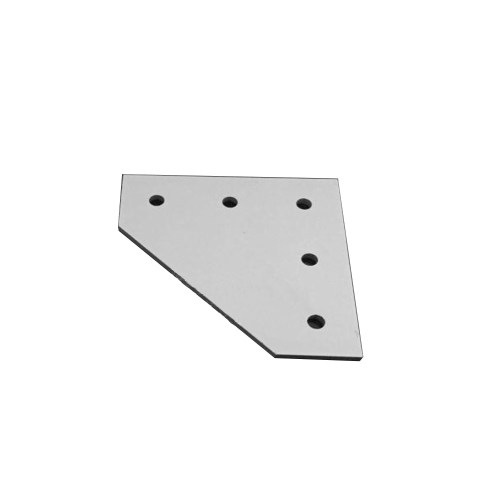 1pcs 4040 / 4545 with 5 hole L type 90 Degree Joint Board Plate Corner Angle Bracket Connection Joint for Aluminum Profile