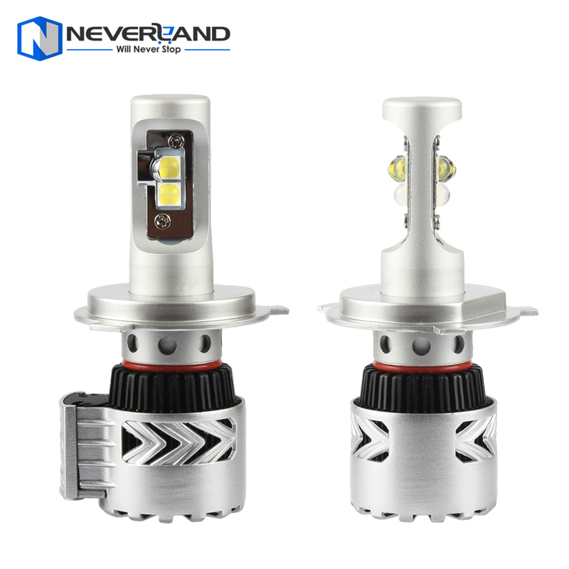 ФОТО 2xSuper Bright H4 High Low Dual Beam 72W Car Headlight Conversion with CREE LED Chips 12000LM 6500K White Fog Lamp Bulb DRL