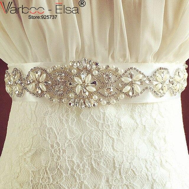 Cristal nupcial cinturones para vestidos de novia 2018 Cintura Sposa boda  Rhinestone cinturones y fajas de 86ae227a0e91