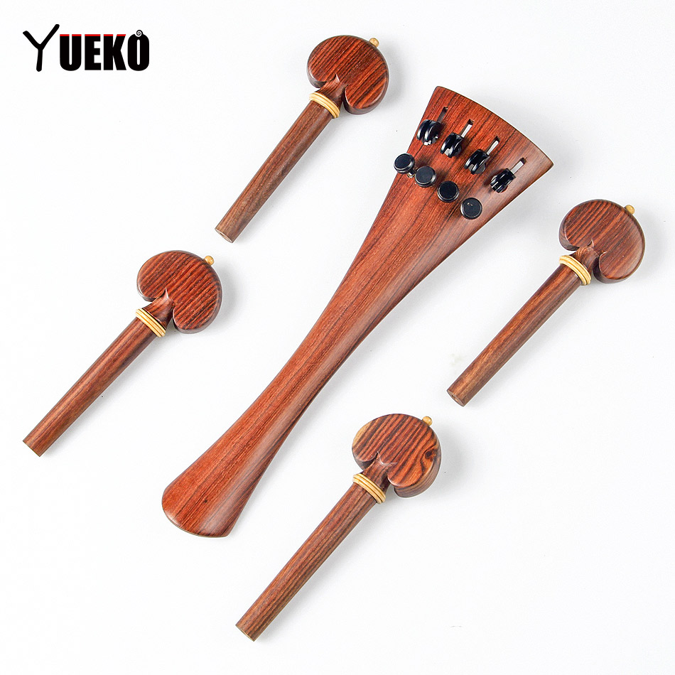 YUEKO Red sandalwood wooden pull string pegs string button cello accessories