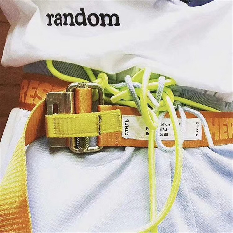 Heron Preston Canvas Belt Hiphop Streetwear Women Men Belt Heron Preston 120CM