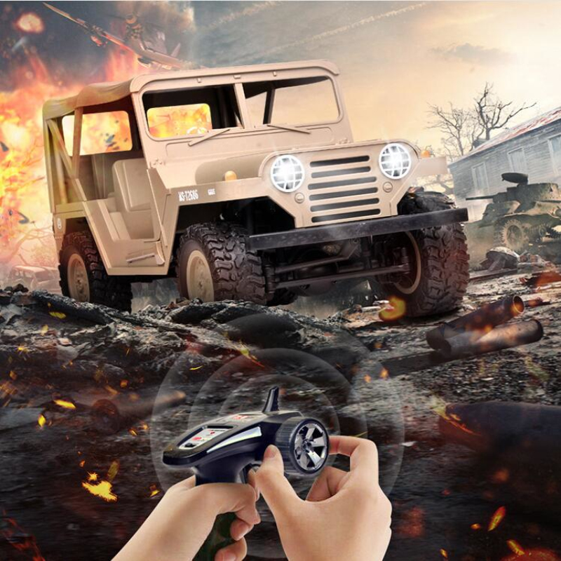 Boy Gift Simulation Military Outside Off-Road Jeep Car 2.4G 1/14 Scale Bright Headlight 4WD Army Climbing remote control RC CarBoy Gift Simulation Military Outside Off-Road Jeep Car 2.4G 1/14 Scale Bright Headlight 4WD Army Climbing remote control RC Car
