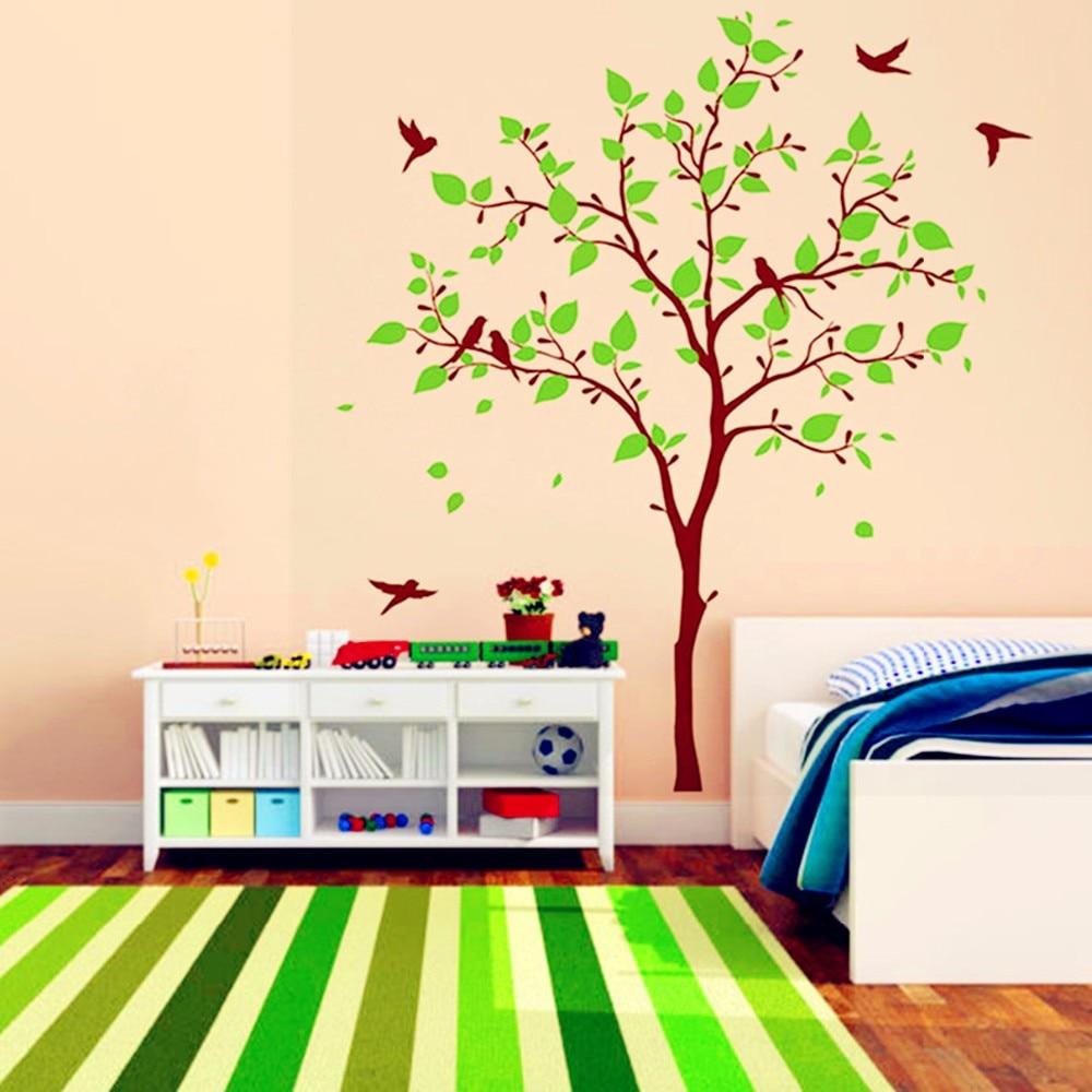 Roze Muurdecoratie Kinderkamer.Wanddecoratie Babykamer Boom Muursticker Boom Roze Met Pandas