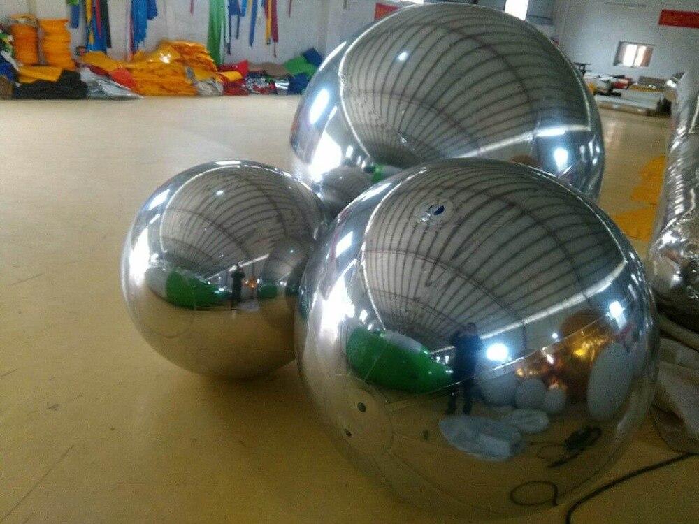 vruće 0,8 m modni božićni ukras na napuhavanje ogledalo loptu za - Zabava na otvorenom i sportovi - Foto 2
