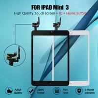 Сенсорный экран для iPad Mini 3 Mini3 сенсорный стеклянный экран дигитайзер кнопка домой с IC Conector для iPad mini 3 A1599 A1600 A1601