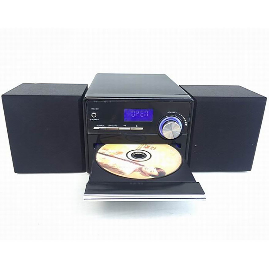 cd player fm radio usb sd card mp3 play lcd display 2x8w speaker combined wooden sound boxes. Black Bedroom Furniture Sets. Home Design Ideas