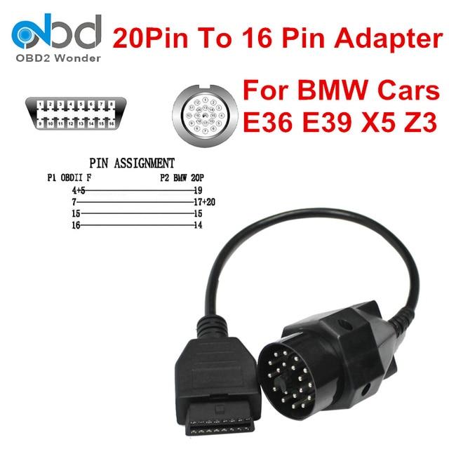 hohe qualit t obd2 kabel adapter f r bmw auto e36 e39 x5. Black Bedroom Furniture Sets. Home Design Ideas