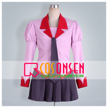 COSPLAYONSEN Bakemonogatari Hitagi Senjogahara Cosplay Costume All Size Custom Made