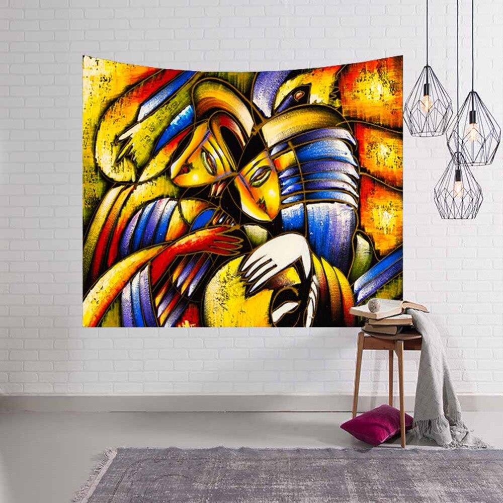 Geometric Irregular Painting Wall Hanging Tapestry Hippie Mandala Pattern Abstract Art Gobelin Livingroom Decor Crafts Sheet Rug